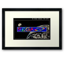 Sega CD Start Screen Framed Print