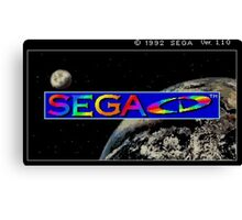 Sega CD Start Screen Canvas Print
