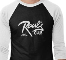 Raul's with addy (Austin, Texas) Men's Baseball ¾ T-Shirt
