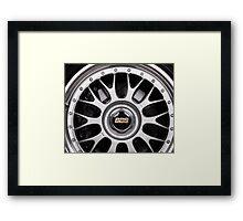 Racing car alloy wheel Framed Print