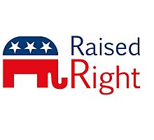 Republican - Raised Right Photographic Print