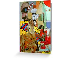 The Busted Easel with Elvis. Greeting Card