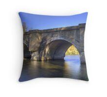 Twin Lakes Railroad Bridge Throw Pillow
