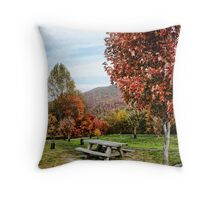 Cherohala Skyway Rest Stop Throw Pillow