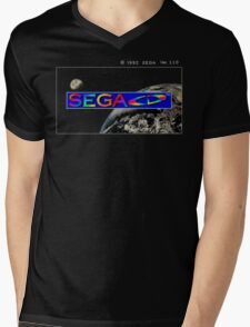 Sega CD Start Screen Mens V-Neck T-Shirt