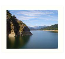 vidraru lake Art Print