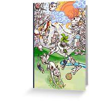Okamiden Gods Greeting Card