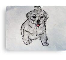 Puppy, Lab, Dog, Animal Canvas Print