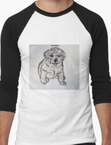 Puppy, Lab, Dog, Animal Men's Baseball ¾ T-Shirt