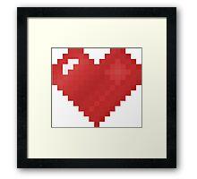 Love Pixel Framed Print