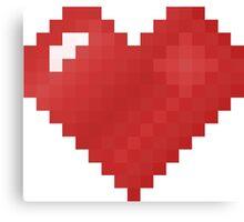 Love Pixel Canvas Print