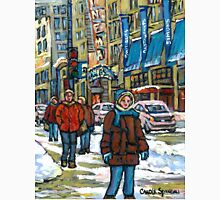 BEST CANADIAN PAINTINGS DOWNTOWN WINTER SCENES MONTREAL Unisex T-Shirt