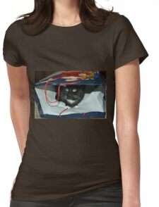 Kitty In a Bag Womens Fitted T-Shirt