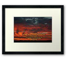 Matthew 8-26 Framed Print