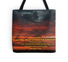 Matthew 8-26 Tote Bag