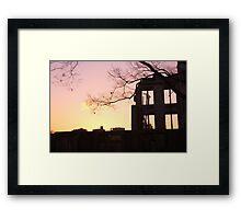Sunset at the A-Bomb Dome, Hiroshima, Japan Framed Print