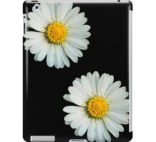 Two white daisies iPad Case/Skin
