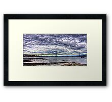 Clouds over the Bridge Panorama Framed Print