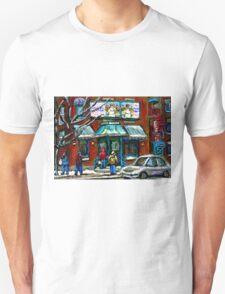 FAIRMOUNT BAGEL MONTREAL ART CANADIAN PAINTINGS T-Shirt