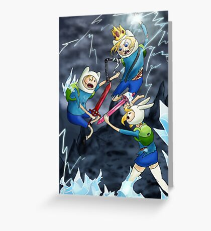 Finn vs Finn vs Fionna Greeting Card