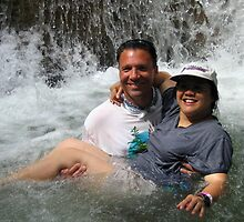 Peter and Laurie at Dunn's River Falls, Jamaica by Laurie Puglia