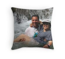 Peter and Laurie at Dunn's River Falls, Jamaica Throw Pillow