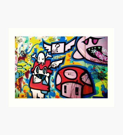 Union Lane Graffiti Art Print