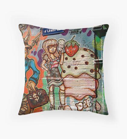 Union Lane Graffiti 2 Throw Pillow