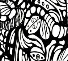 Black and White Swirling Sticker