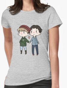 Red Beanies and Gay Babes Womens Fitted T-Shirt