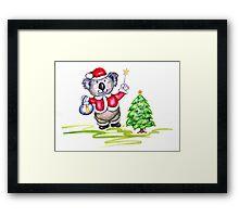 Koala Claus Framed Print