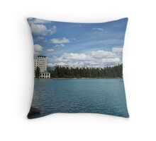 The Fairmont Chateau Lake Louise Throw Pillow
