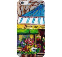 MONTREAL FLOWER SHOP DOWNTOWN OUTDOOR VENDOR iPhone Case/Skin