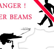 DANGER ! Laser Beams Sticker