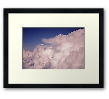 Bubbling Storm Clouds Framed Print