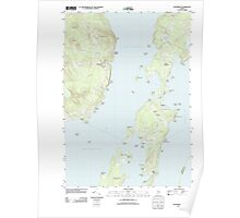 Maine USGS Historical Map Islesboro 20110909 TM Poster