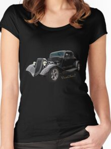 34 Ford Coupe in Black T-Shirt Women's Fitted Scoop T-Shirt