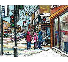 RUE WELLINGTON VERDUN MONTREAL WINTER STREET SCENE Photographic Print
