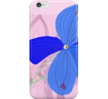 Delphinium sp. floral iPhone Case/Skin