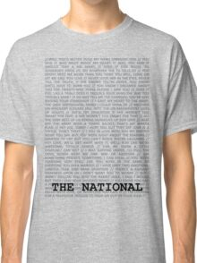 The National Typography Classic T-Shirt