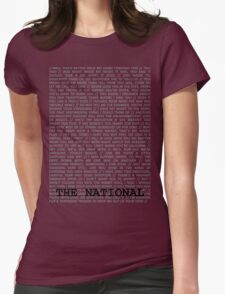 The National Typography Womens Fitted T-Shirt