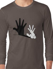 Rabbit Hand Shadow Long Sleeve T-Shirt