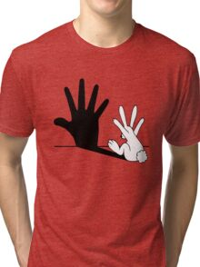 Rabbit Hand Shadow Tri-blend T-Shirt