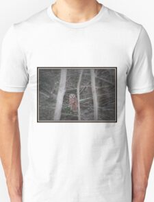 Barred Owl In Tree Unisex T-Shirt