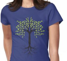 tee tree T-shirt  Womens Fitted T-Shirt