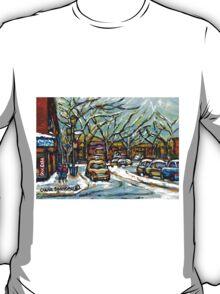 BEST MONTREAL ART POUTINE SHOP VERDUN MONTRAL PAINTINGS T-Shirt