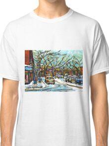BEST MONTREAL ART POUTINE SHOP VERDUN MONTRAL PAINTINGS Classic T-Shirt