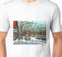 BEST MONTREAL ART POUTINE SHOP VERDUN MONTRAL PAINTINGS Unisex T-Shirt