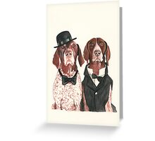 F.I.P. @ifitwags (The pointer brothers) Greeting Card
