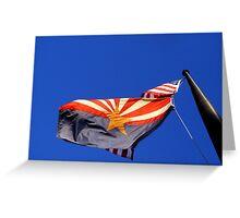 The USA & Arizona State Flags Greeting Card